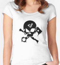 Motorsports Pirate Women's Fitted Scoop T-Shirt