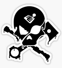 Motorsports Pirate Sticker