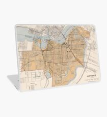 Vintage Map of Ottawa Canada (1915) Laptop Skin