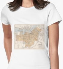 Vintage Map of Ottawa Canada (1915) Women's Fitted T-Shirt