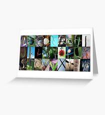 Nature's Alphabet Greeting Card
