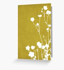 Buttercups in Mustard & White Greeting Card