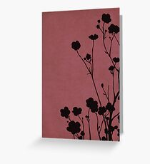 Buttercups in Pink & Gray Greeting Card