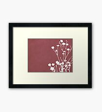 Buttercups in Pink & White Framed Print