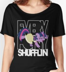 Everypony Shufflin in Color!(For Black Shirt) Women's Relaxed Fit T-Shirt