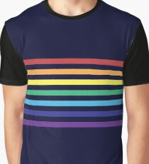Rainbow Lines Graphic T-Shirt