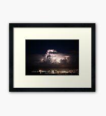 Spectacular Lightning Storm #1, Port Lincoln, South Australia Framed Print