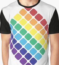 Rainbow Diamond Graphic T-Shirt