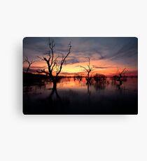 Lake Menindee Sunset  Canvas Print