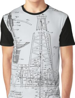 1911 Oil Rig Patent Graphic T-Shirt