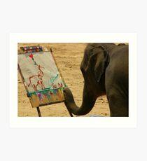 Elephant Artist Art Print