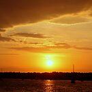 cloudy sunset by deegarra