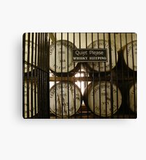 Whisky Sleeping Canvas Print