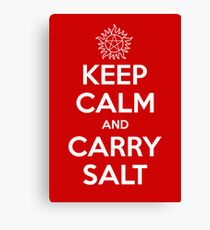 Keep Calm and Carry Salt Canvas Print
