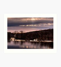 Late Sunrise at Kaukauna Wisconsin Art Print
