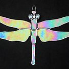 Stained glass iridescent Dragonfly by Neil Witney