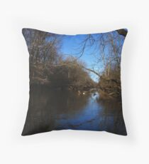 Blue Sky in the Water Throw Pillow
