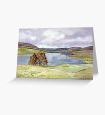 The Backwater Dam, Glen Isla, Angus Greeting Card