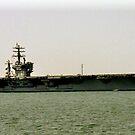 USS Dwight D Eisenhower CVN 69 by Shawnuffdigital