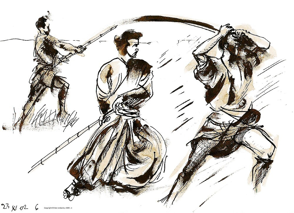 The 7 Samurai A Sketch by ivDAnu