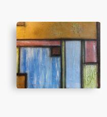 Basil Pastel Blocks Canvas Print