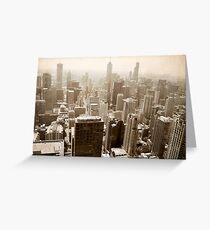 Overlooking Chicago Greeting Card