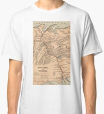 Vintage Map of The Panama Canal (1885) Classic T-Shirt