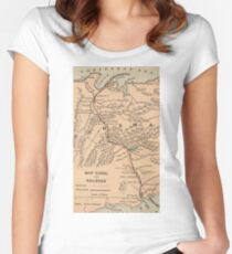 Vintage Map of The Panama Canal (1885) Fitted Scoop T-Shirt
