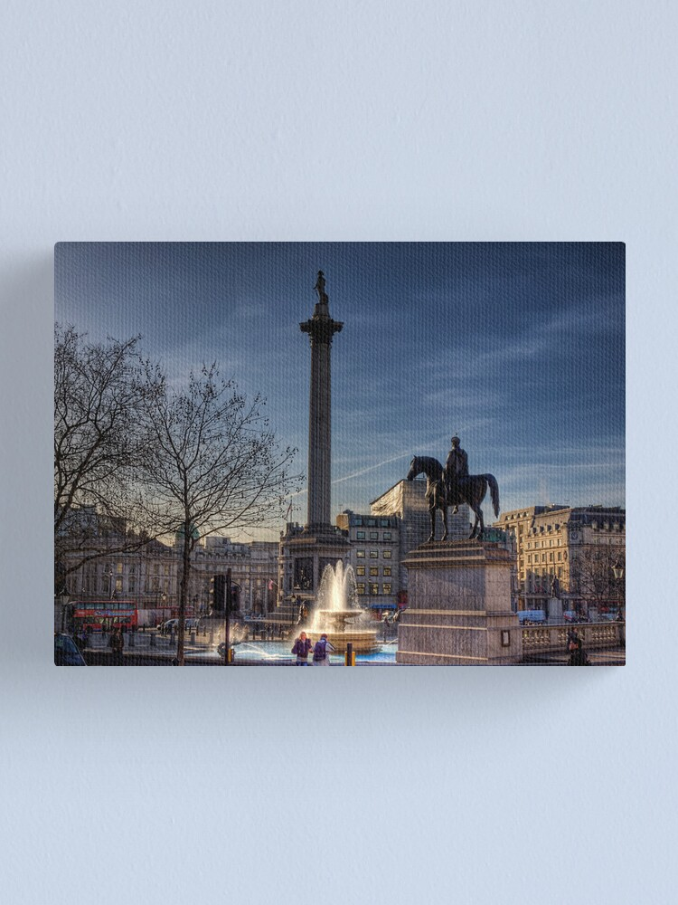 Alternate view of Trafalgar square in the morning 2 Canvas Print