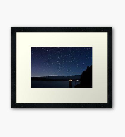 South Holston Lake Star Trails Framed Print