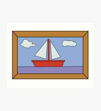 Sail Boat Artwork Art Print