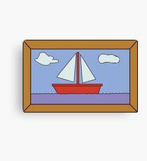 Sail Boat Artwork Canvas Print