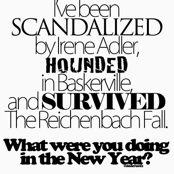 What Were You Doing in The New Year? - Black Text by dederants