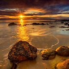 Sunrays on Seven Mile Beach - Tasmania (HDR) by PC1134