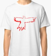 Crow in Red Classic T-Shirt