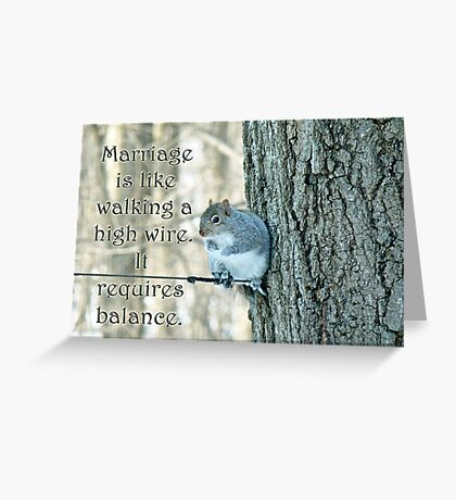 The Sage Of The High Wire Greeting Card