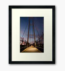 Dean Street Foot Bridge Framed Print
