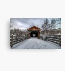 Fitch Bay Covered Bridge Canvas Print