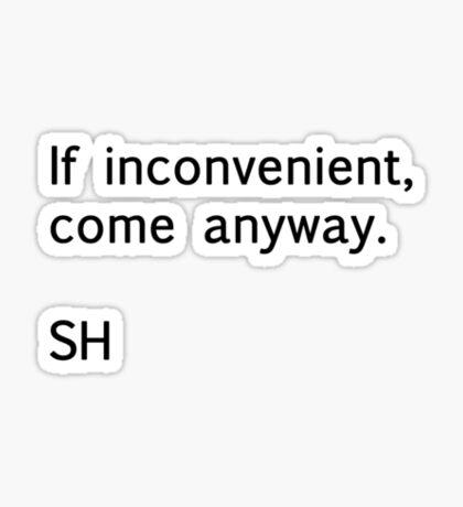Sherlock Messages - 2 (Black) Sticker