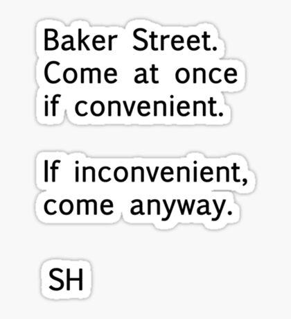 Sherlock Messages - 8 (Black) Sticker