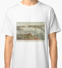 Camiseta clásica Vintage Pictorial Map of The Port of New York