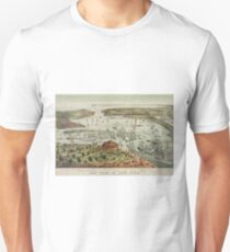Camiseta unisex Vintage Pictorial Map of The Port of New York