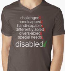 Disabled. Period. Men's V-Neck T-Shirt