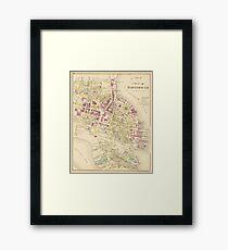 Vintage Map of Portsmouth NH (1892) Framed Print