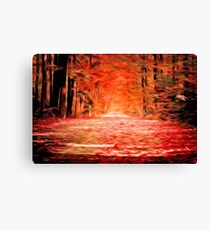 Oregon Fall Oil Painting Canvas Print