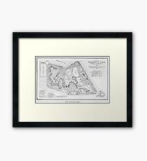 Vintage Map of Prospect Park (1901) Framed Print