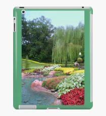Lovely Garden with a Pond in Orlando Florida iPad Case/Skin