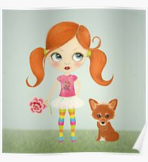 Girl and Fox Poster
