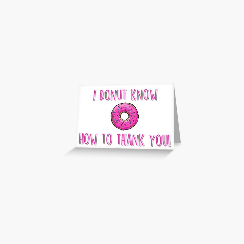 Ich weiß nicht, wie ich dir danken soll! Grußkarte