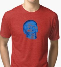 Blue Skull Tri-blend T-Shirt